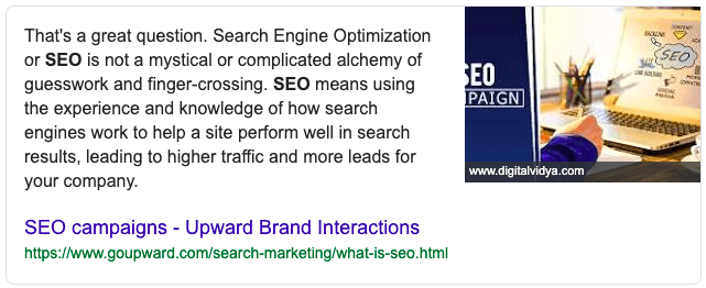 Featured Snippet Example 13