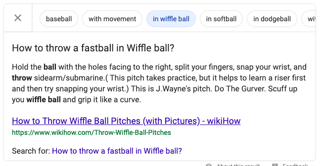Featured Snippet Example 3