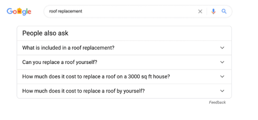 Googles People Also Ask Results