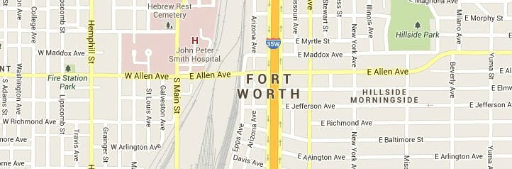 Fort-Worth-Texas-Map